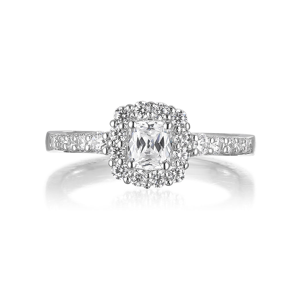 Cushion Cut Diamond Engagement Ring S20159A and Band Set S20159B
