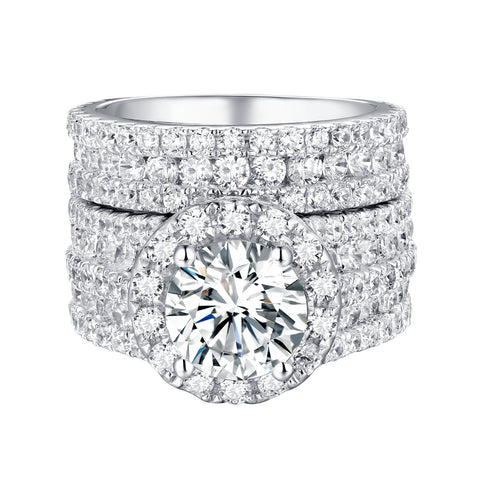 Bold Diamond Engagement Ring S201833A and Band Set S201833B