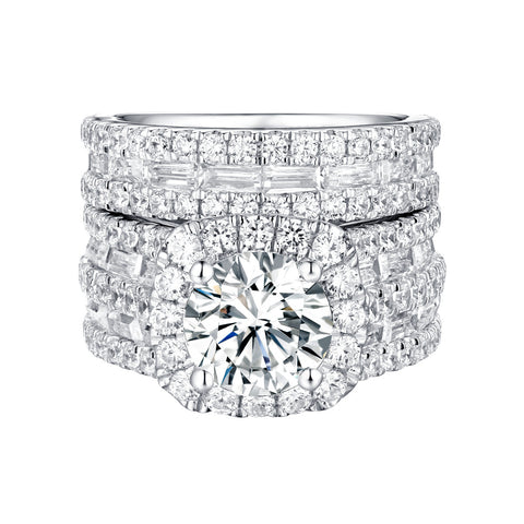 Bold Diamond Engagement Ring S201834A and Band Set S201834B