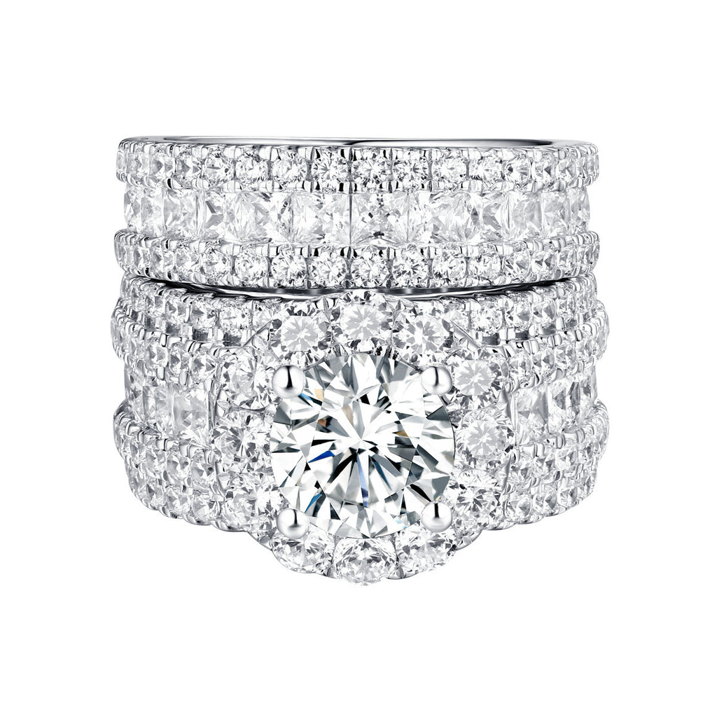 Bold Diamond Engagement Ring S201835A and Band Set S201835B