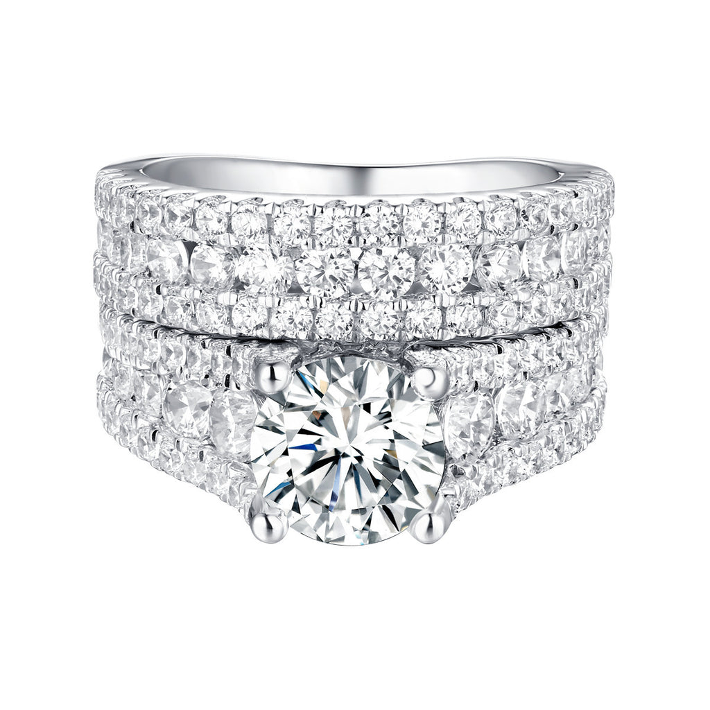 Bold Diamond Engagement Ring S201837A and Band Set S201837B