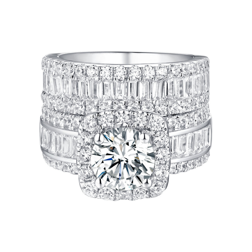 Bold Diamond Engagement Ring S201840A and Band Set S201840B