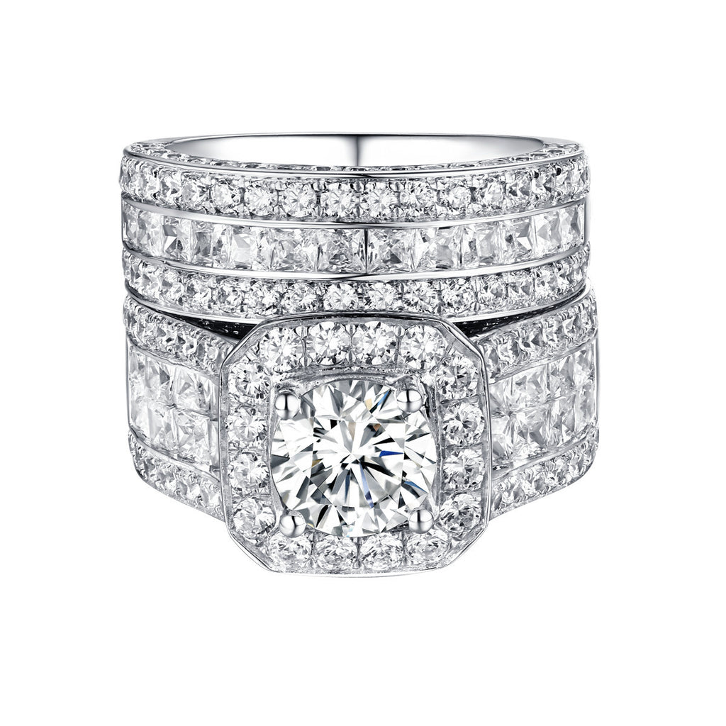 Bold Diamond Engagement Ring S201842A and Band Set S201842B