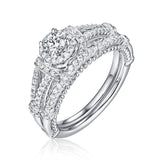 Beau Diamond Engagement Ring S201845A and Band Set S201845B