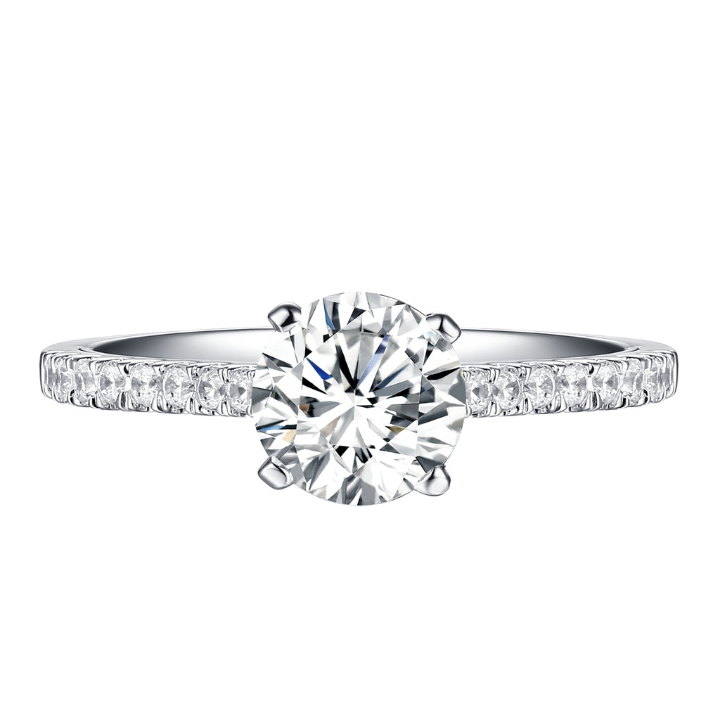 Sollitaire Plus Engagement Ring S201893A and Matching Wedding Band Set S201893B