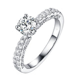Solitaire Plus Engagement Ring S201904A and Matching Wedding Band Set S201904B