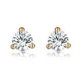 14KT Yellow Gold Solitaire Earring 14 KT in 0.15 Ct Tw | S201968