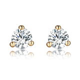 14KT Yellow Gold Diamond Studs Solitaire Earrings in 0.20 cts - S201969