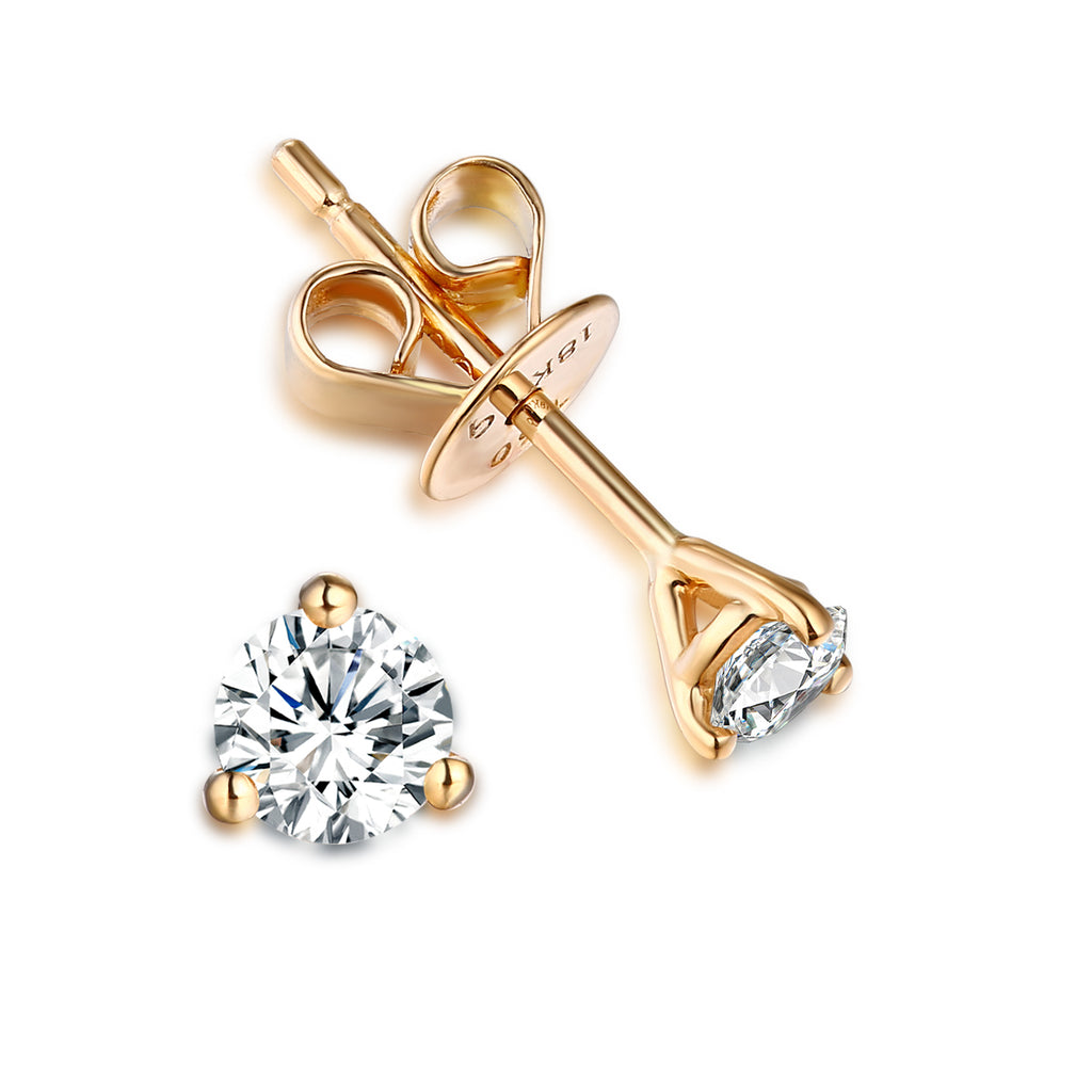 14KT Yellow Gold Solitaire Earring 18 KT 0.25 Ct Tw | S201970