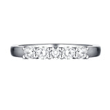 14KT White Gold 5 Diamond Prong Band - S201979B