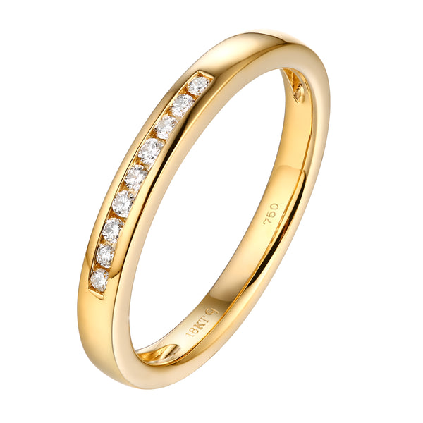 14KT Yellow Gold 7 Diamond Channel Band - S201982B