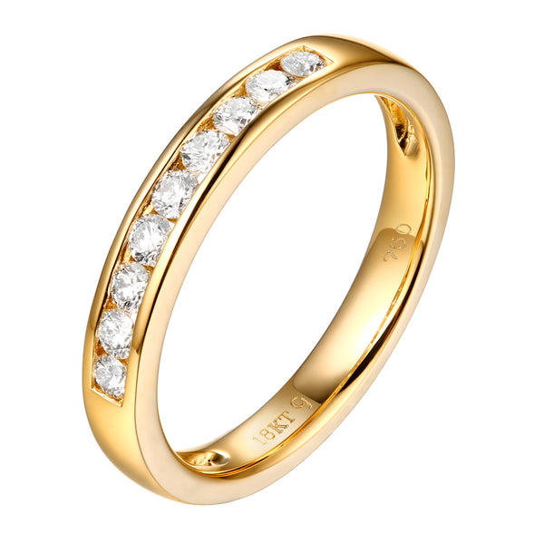 14KT Yellow Gold 9 Diamond Aniversary Band - S201984B