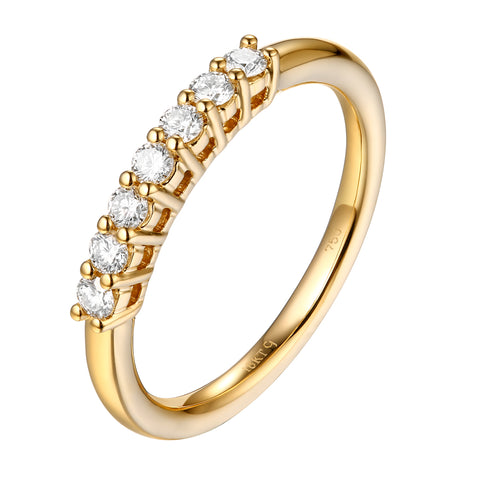 14KT Yellow Gold 7 Diamond Prong - S201989B