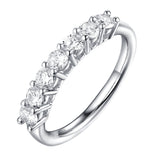 14KT White Gold 7 Diamond Prong Band - S201991B