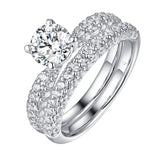 Solitaire Plus Engagement Ring S2012000A and Matching Wedding Band Set S2012000B