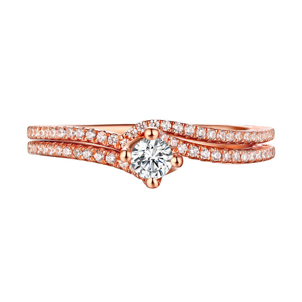 Beau Diamond Engagement Ring S201854A and Band Set S201854B