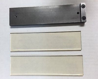 Flat Platen With 2 Pieces Pyroceram Glass For Kmg Knife