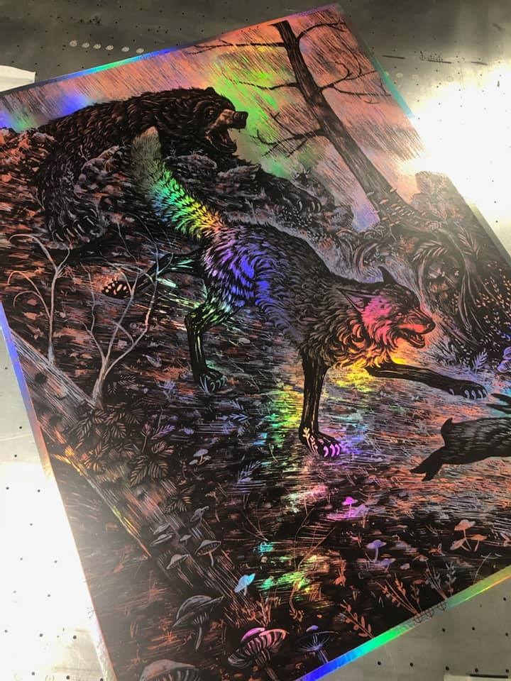 The Chase - Rainbow Foil Variant - Mad Duck Posters