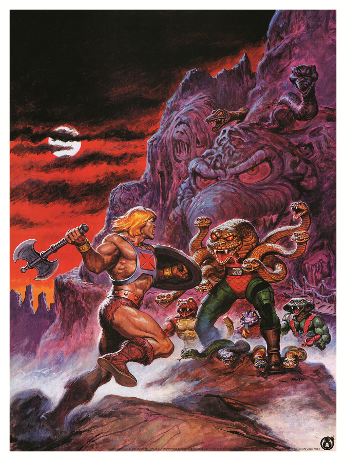 He-Man vs King Hiss - Power Variant - Mad Duck Posters
