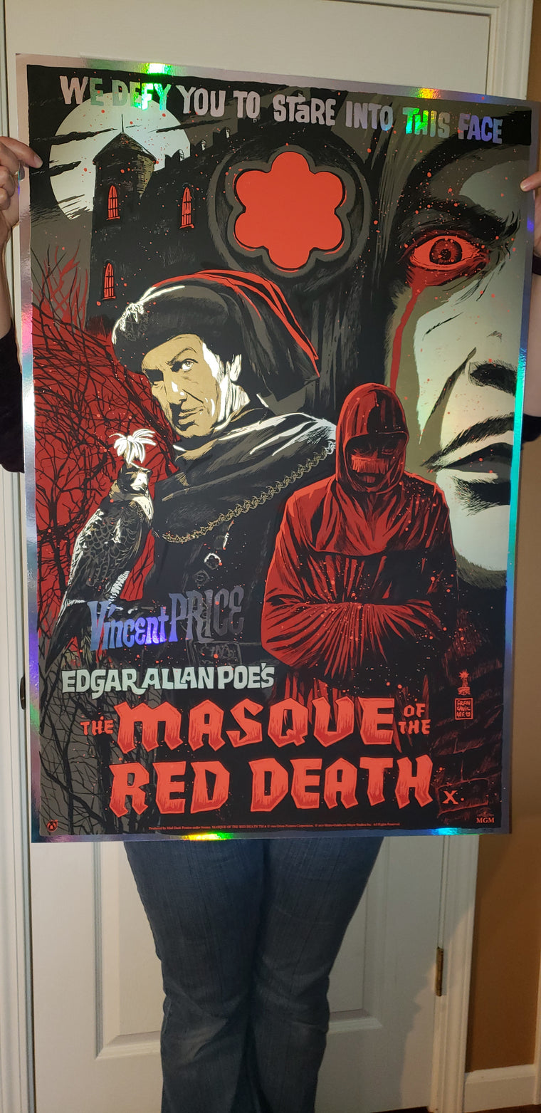 The Masque Of The Red Death - Blood Splatter Rainbow Foil Variant - Mad Duck Posters