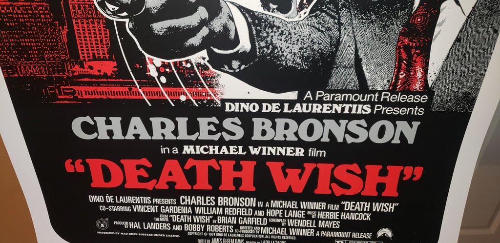 Death Wish - Regular - JD - Mad Duck Posters