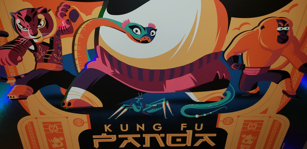 Kung Fu Panda - Rainbow Scroll Foil Variant - Mad Duck Posters