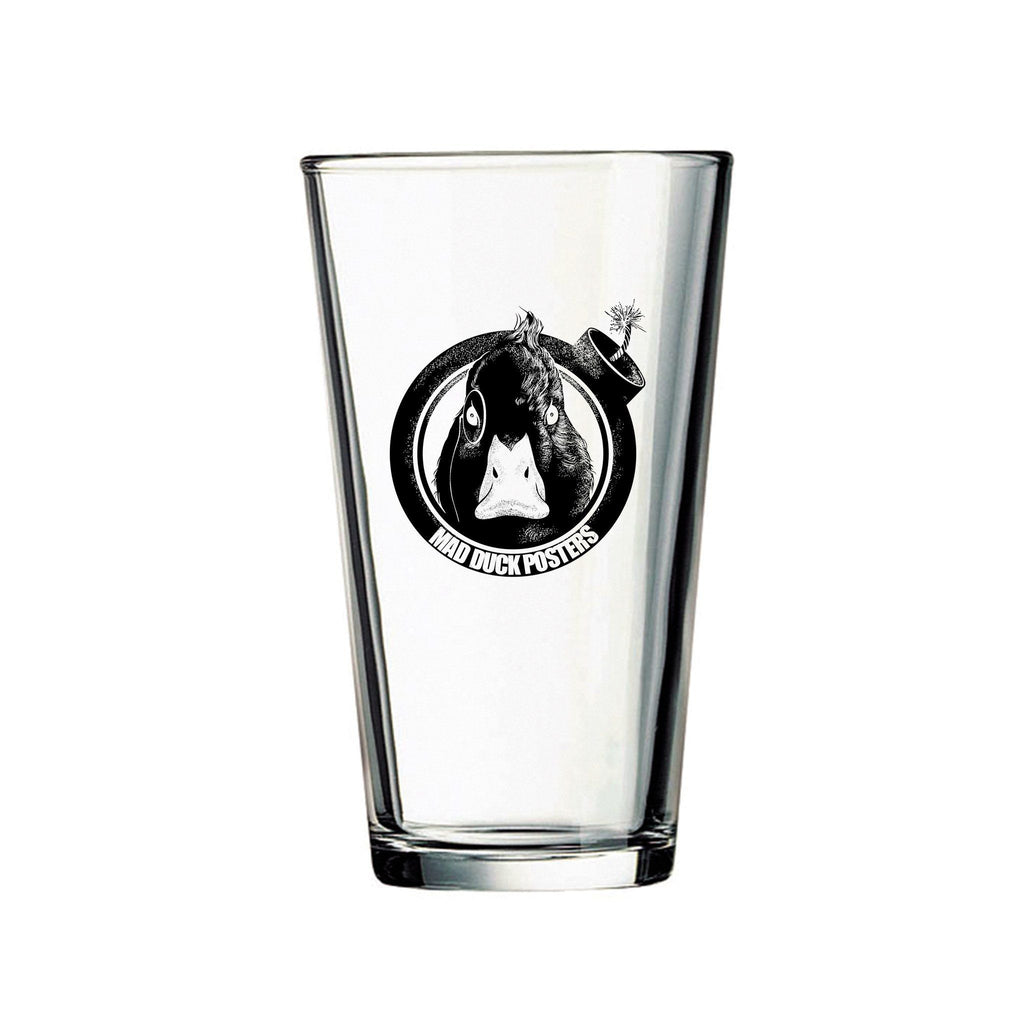 Mad Duck Logo Pint Glass - Mad Duck Posters