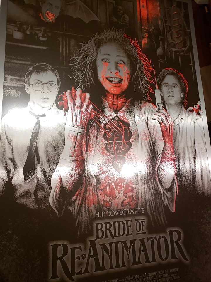 Bride of Re-Animator - Crimson Tears - Silver Foil Variant - Mad Duck Posters