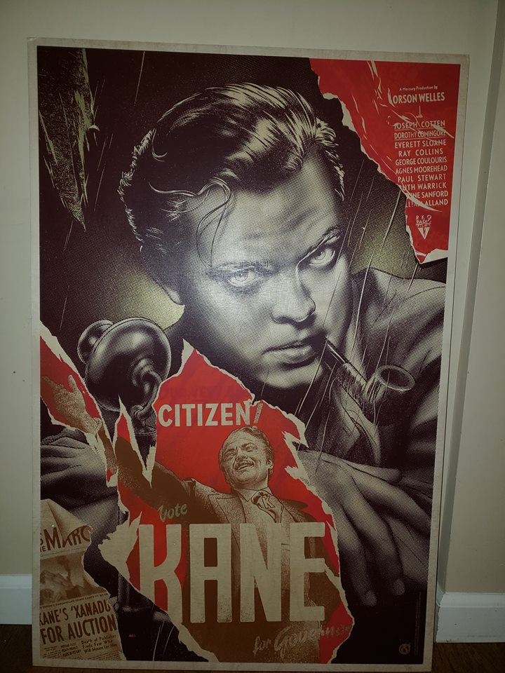 Citizen Kane - Wood Variant - Corner Damage - See Pics - Mad Duck Posters