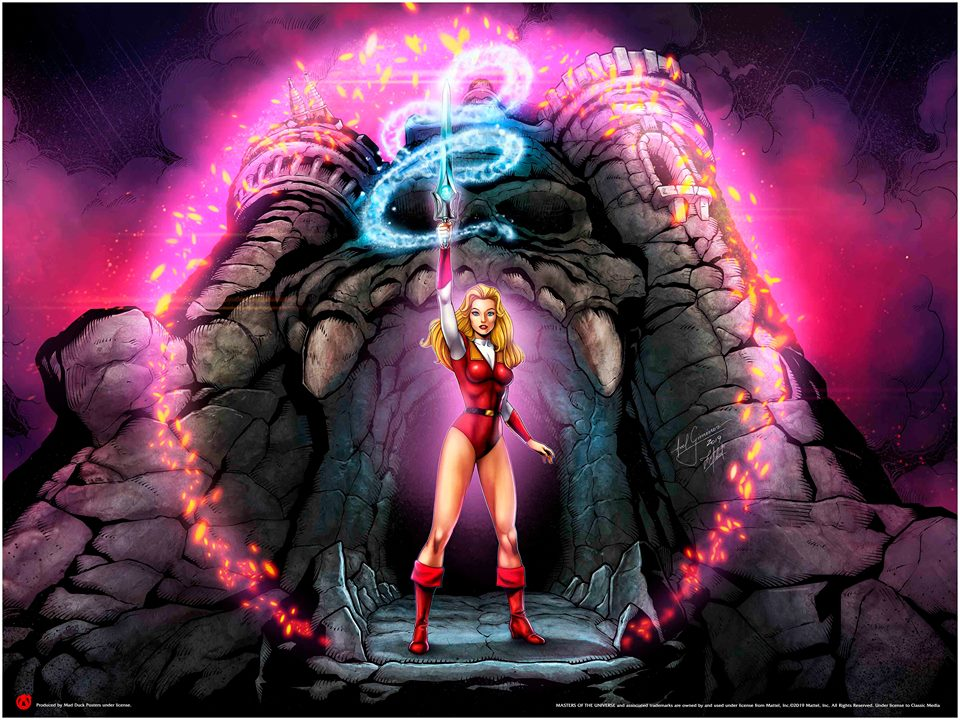 Princess Adora Calls Upon The Honor Of Grayskull - Mad Duck Posters