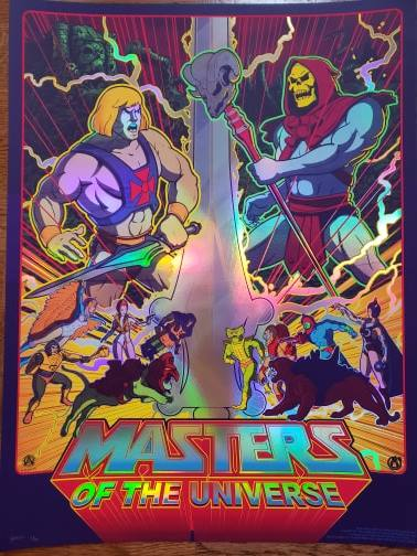 Masters - Rainbow Foil Variant - Regular Colorway - Mad Duck Posters