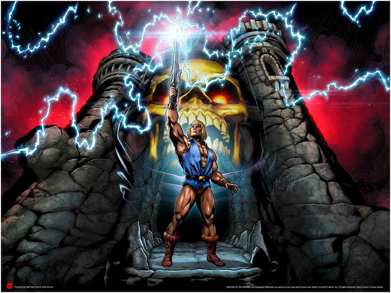Prince Adam Calls Upon The Power Of Grayskull - Minicomic Variant