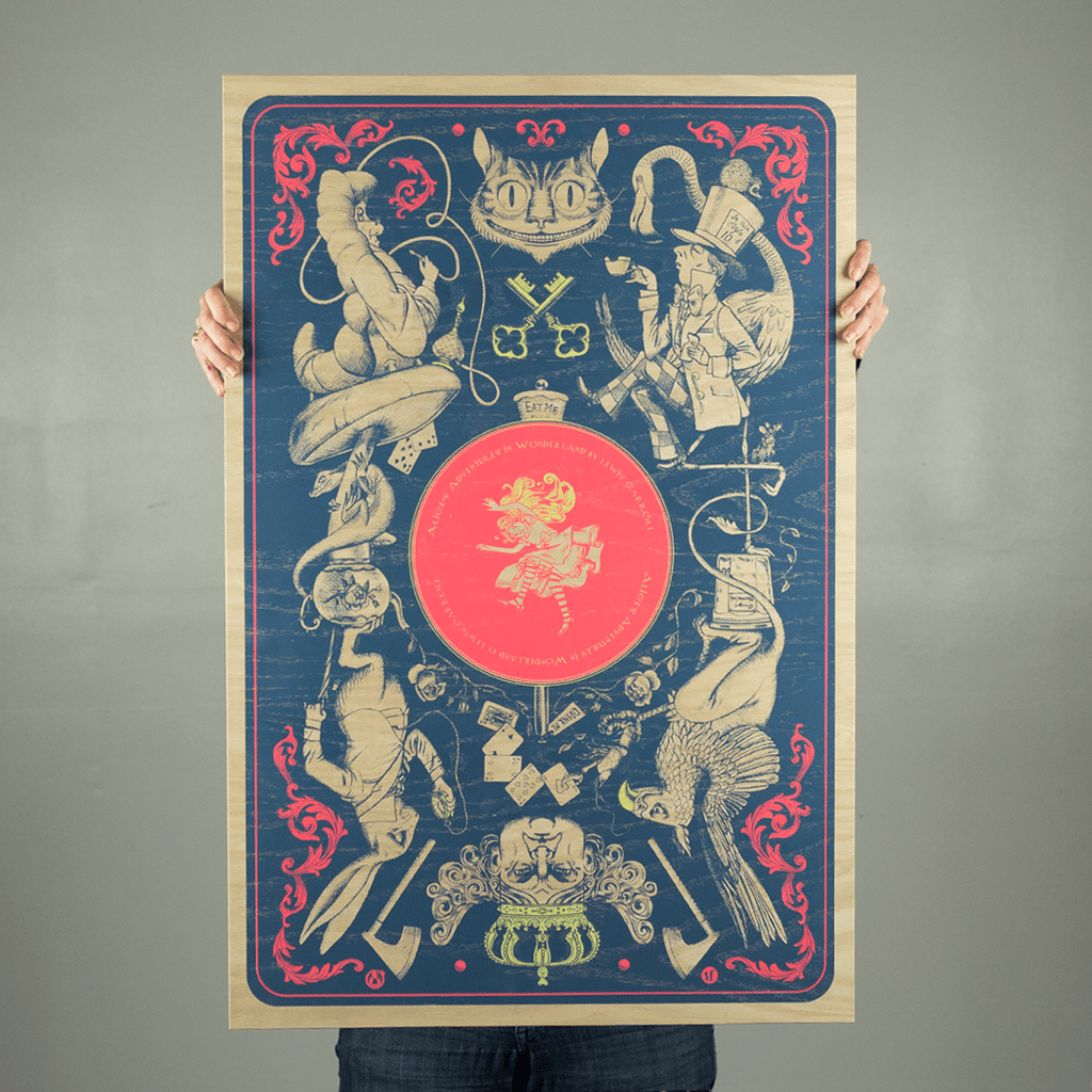 Alice's Adventures In Wonderland - Wood Variant - Mad Duck Posters