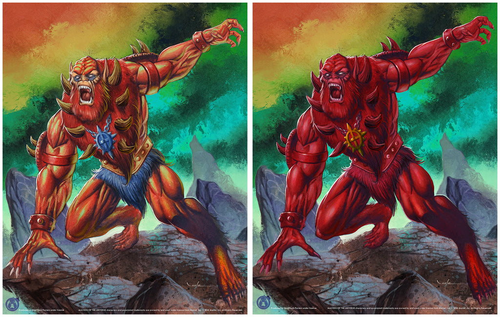 Beast Man - Matching Numbered Set (Regular & Variant) - Mad Duck Posters