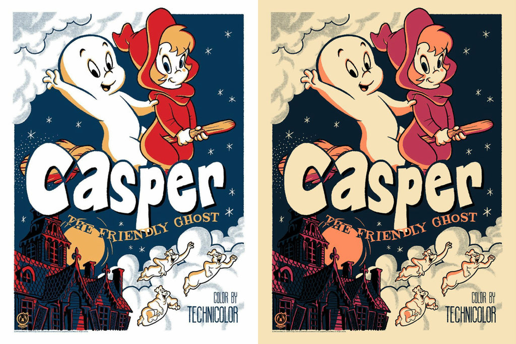 Casper The Friendly Ghost - Regular & Vintage Variant Set - Mad Duck Posters