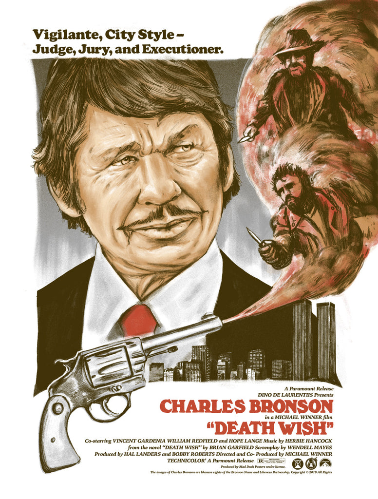 Death Wish - City Sleeps Variant - Mad Duck Posters