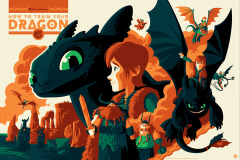 How to train your dragon by tom whalen mad duck posters we are excited to release new licensed posters for how to train your dragon ccuart Gallery