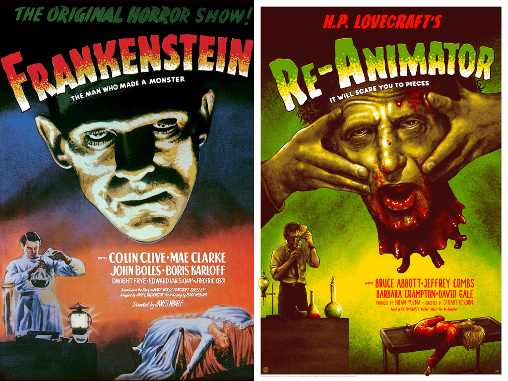 Re-Animator - Frankenstein Homage - Vintage Variant - Mad Duck Posters