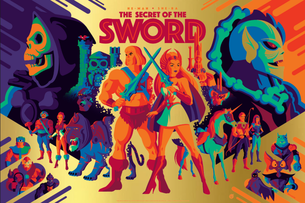 The Secret Of The Sword - Gold Foil - Mad Duck Posters