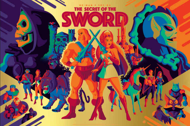 The Secret Of The Sword - Gold Foil