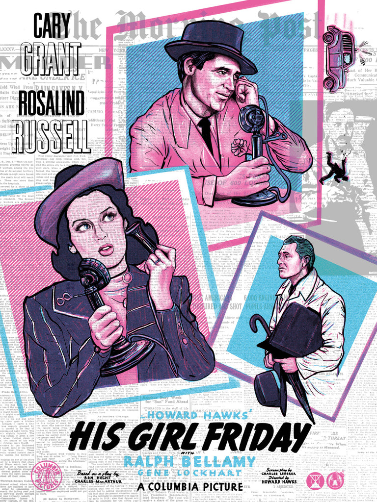 His Girl Friday - Deadline Variant - Mad Duck Posters