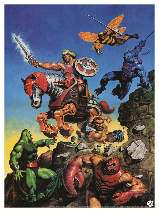 He-Man And Stridor Charge In To Battle  - Regular - Mad Duck Posters