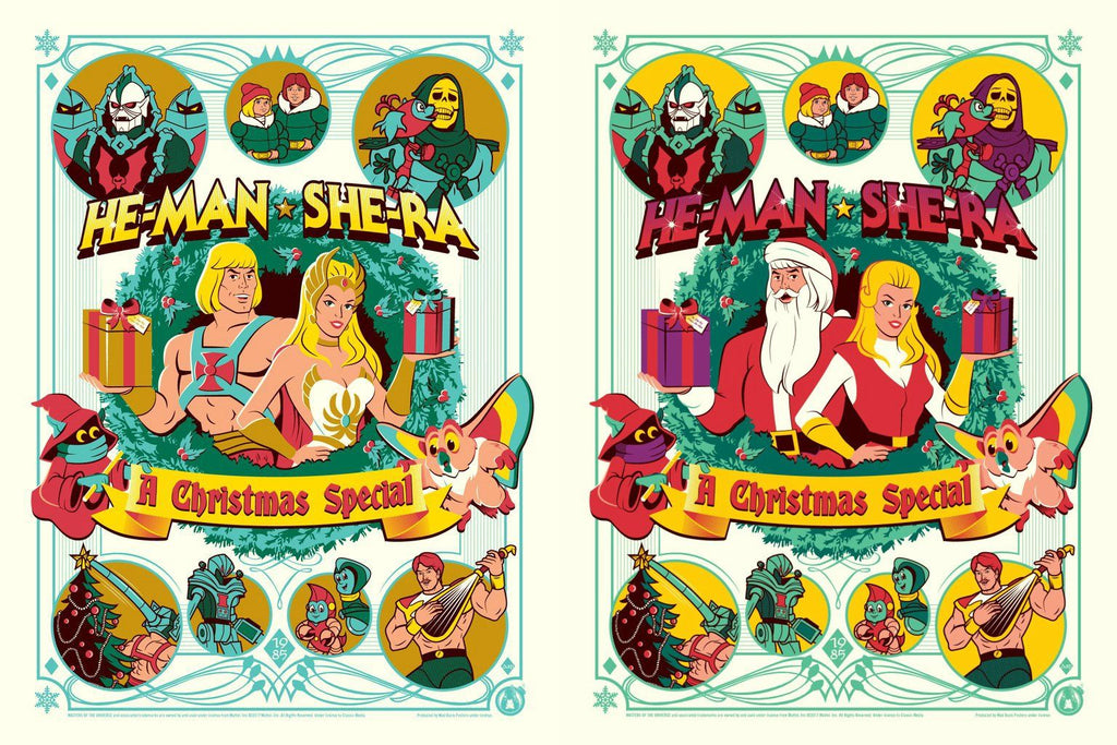 He-man & She-Ra - A Christmas Special - Matching Number Set - Mad Duck Posters