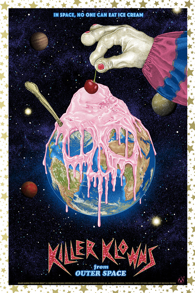 Killer Klowns From Outer Space - Gold Variant - Mad Duck Posters