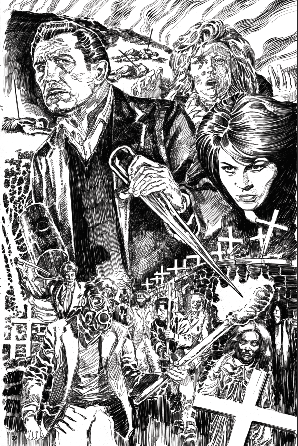 The Last Man On Earth - Silver Metallic Pencil Linework Variant - Mad Duck Posters