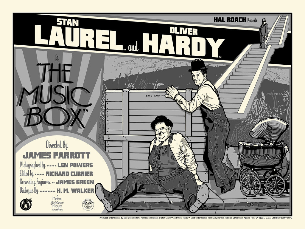 Laurel & Hardy The Music Box - Regular - Mad Duck Posters