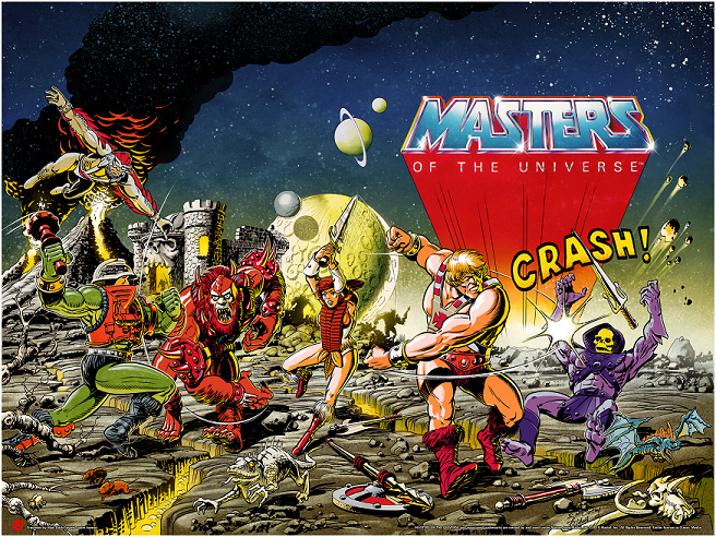The Masters Of The Universe - Regular Colorway - Text Version - Mad Duck Posters