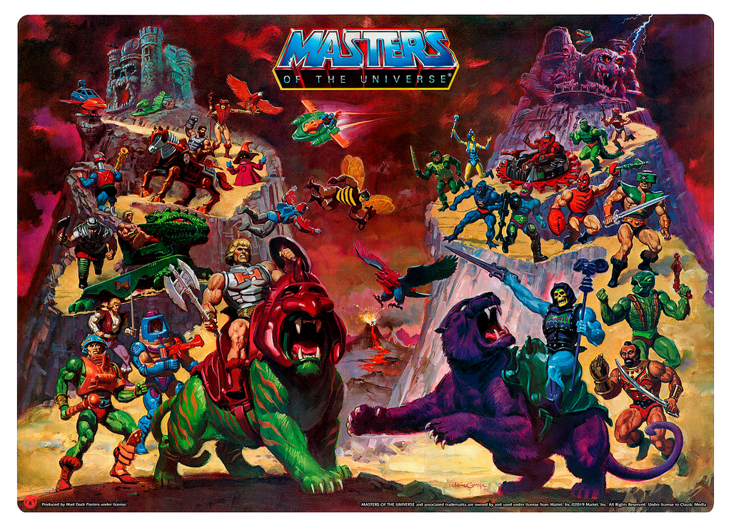 Heroic Warriors vs Evil Warriors - Mad Duck Posters