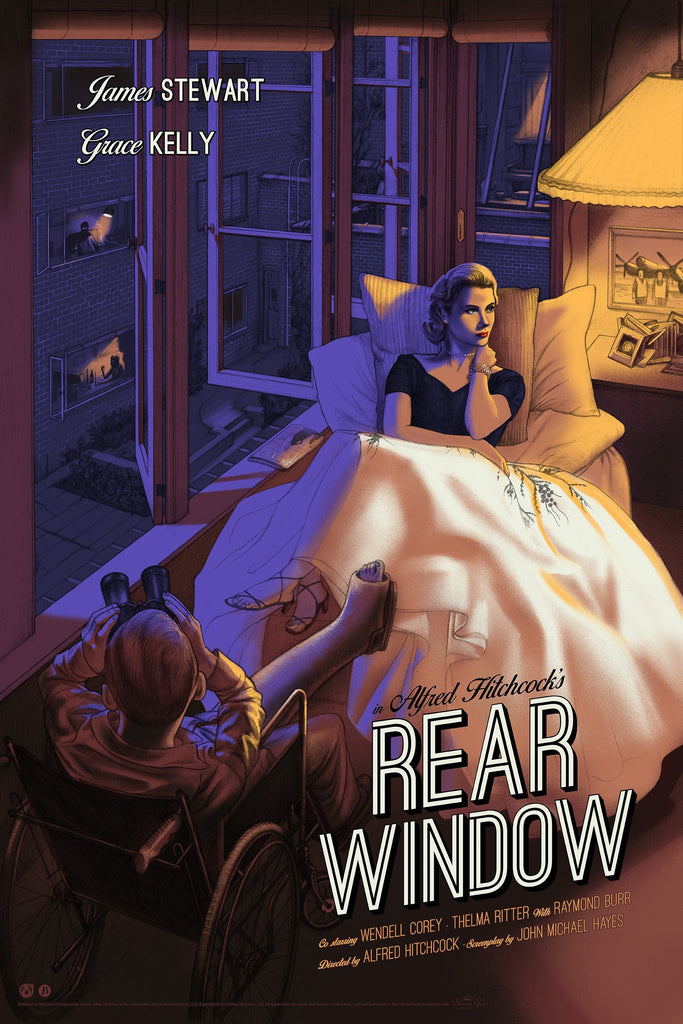 Rear Window - Purple Variant - Mad Duck Posters