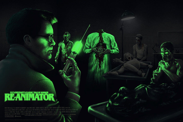 H.P. Lovecraft's Re-Animator - Variant - Mad Duck Posters - 2